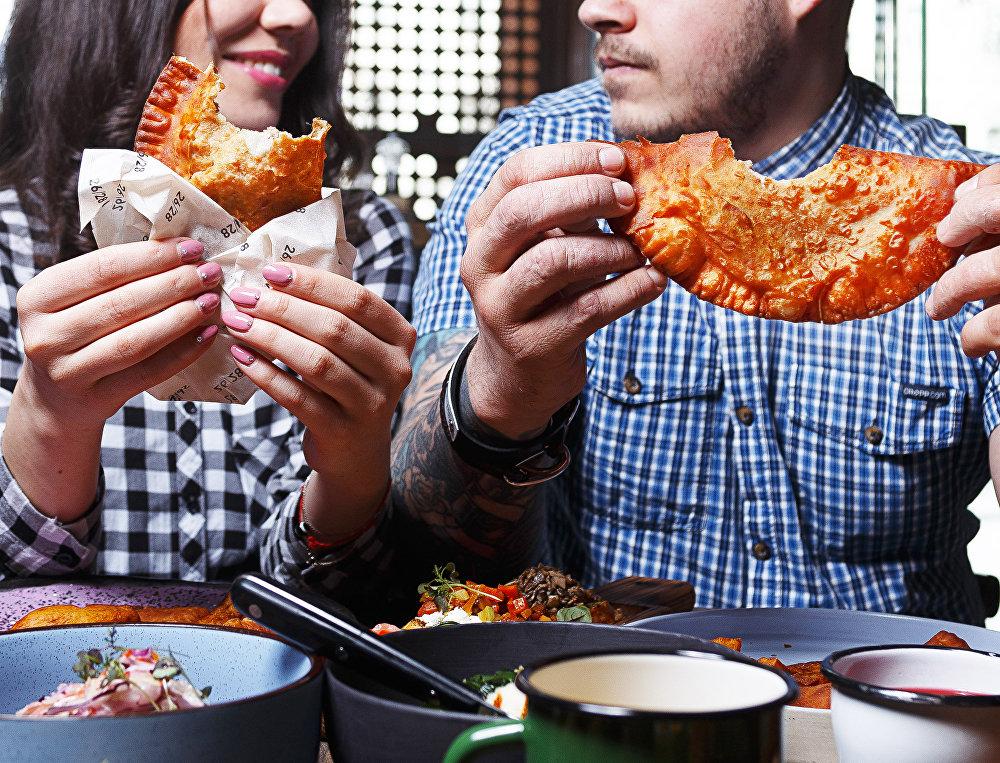 Empanadas do restaurante 26/28 Grill