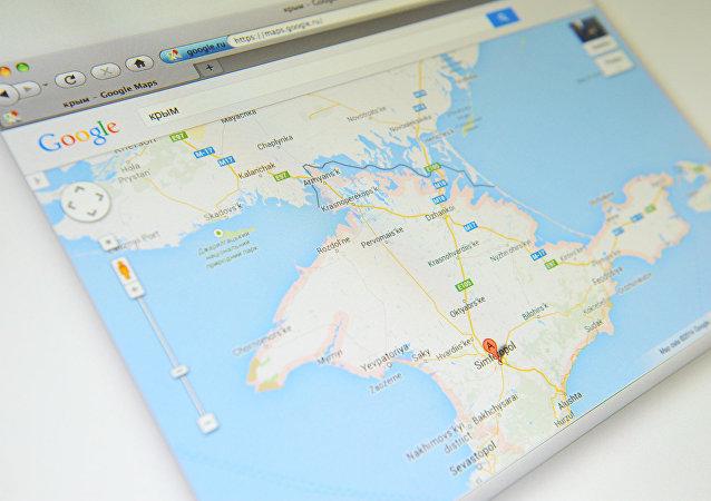 Crimeia no mapa do Google