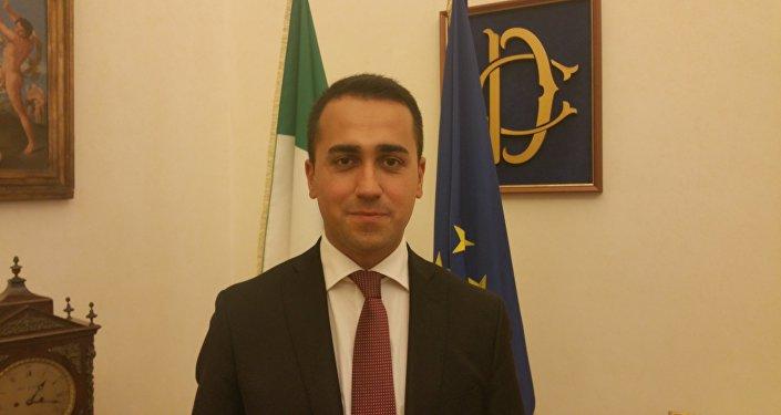 Luigi Di Maio, líder do Movimento Cinco Estrelas