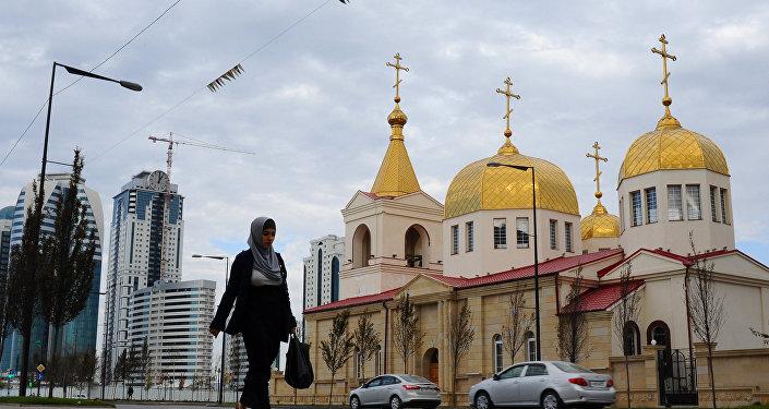 Igreja cristã ortodoxa do Arcanjo Miguel em Grozny, Chechênia