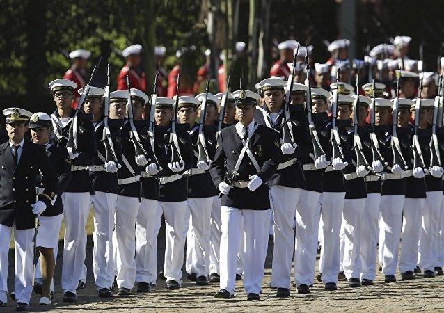 Desfile de tropa da Marinha em Brasília
