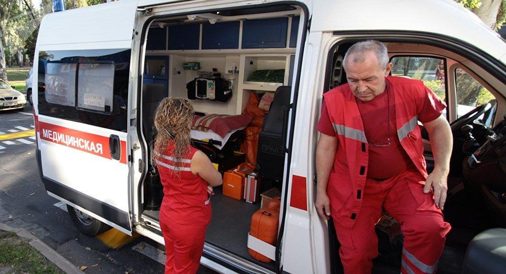 Ambulância na república autoproclamada de Donetsk, foto de arquivo