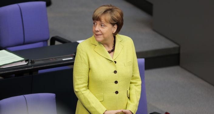 A chanceler alemã Angela Merkel em Berlim.