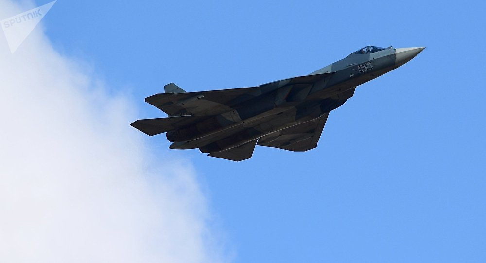 [© Sputnik / Aleksei Kudenko] Caça da quinta geração Su-57