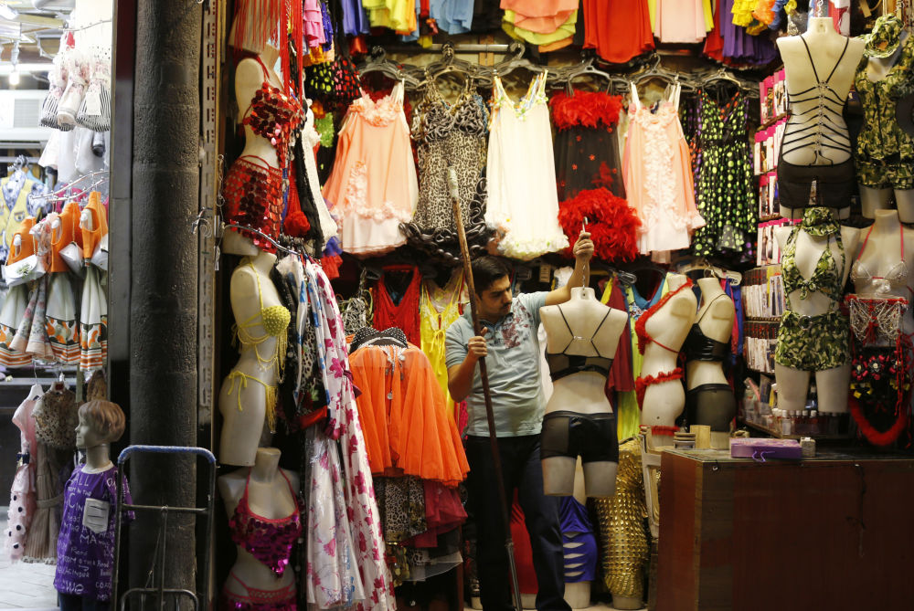 Um vendedor de rua em Damasco, Síria.