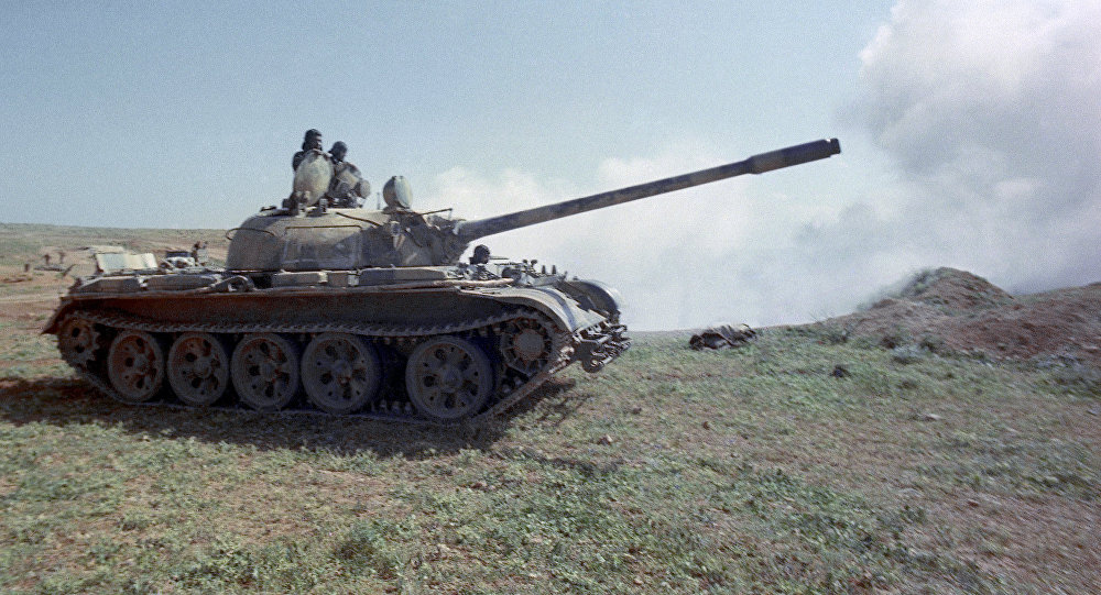 Tanque sírio T-55, desenvolvido na URSS