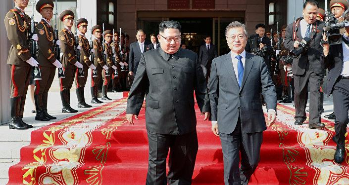 Encontro entre o líder norte-coreano, Kim Jong-un, e o presidente da Coreia do Sul, Moon Jae-in, 26 de maio de 2018