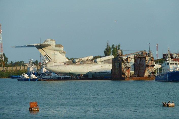 Navio-ecranoplano russo do projeto 903 Lun