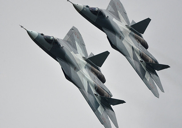 Caças Su-57 russos