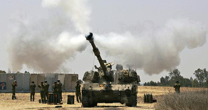 Tanque de Israel nas proximidades da Faixa de Gaza.