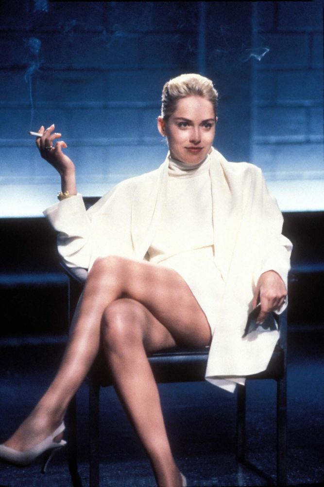 Atriz norte-americana Sharon Stone no filme Instinto Selvagem