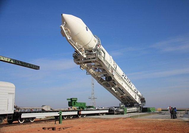 Preparativos para lançamento de um foguete portador ucraniano Zenit (foto de arquivo)