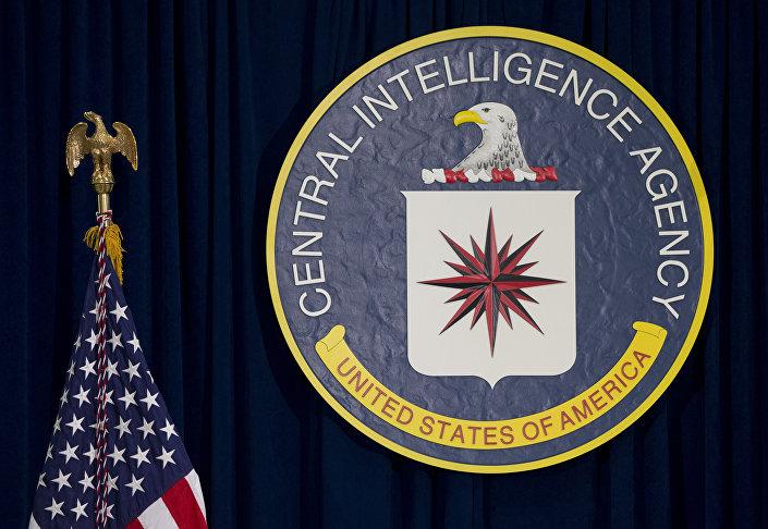Emblema da CIA em sua sede em Langley, Virgínia, EUA