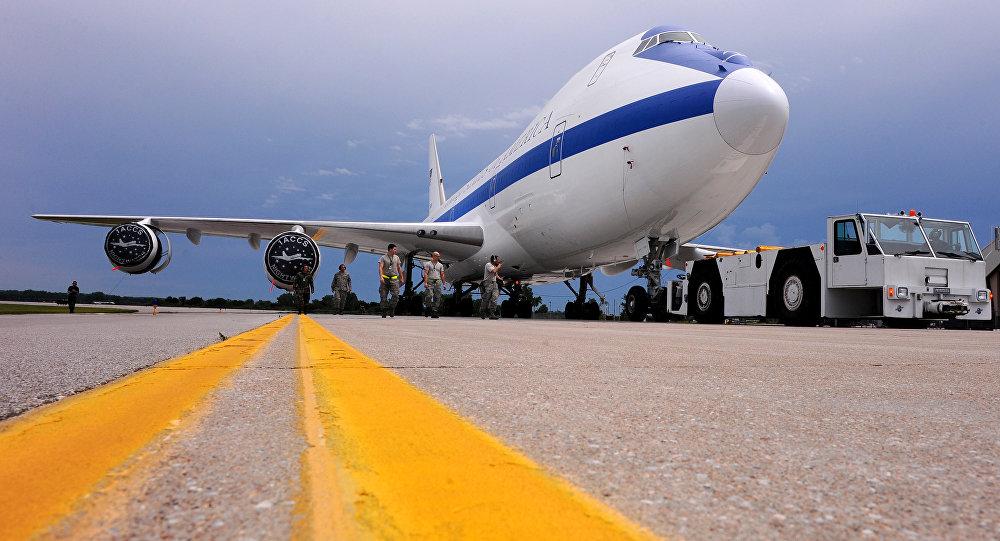 [CC BY 2.0 / Base aérea de Offutt] Avião Boeing E-4B, também conhecido como avião do Juízo Final (foto de arquivo)