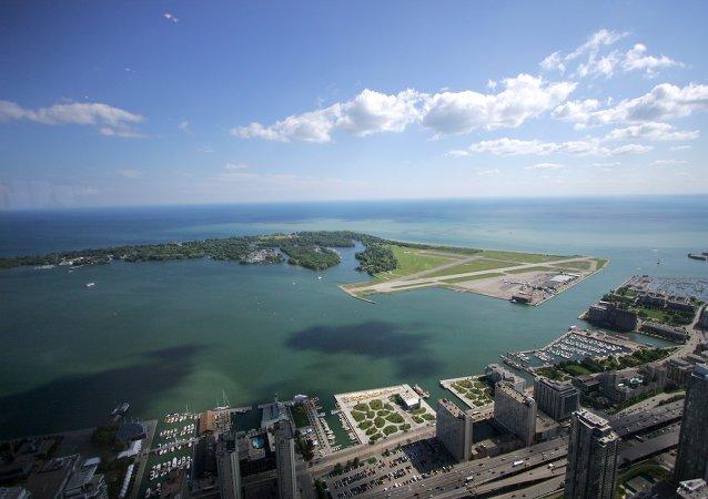 Ontário, Canadá. Vista a partir da Torre CN, em Toronto