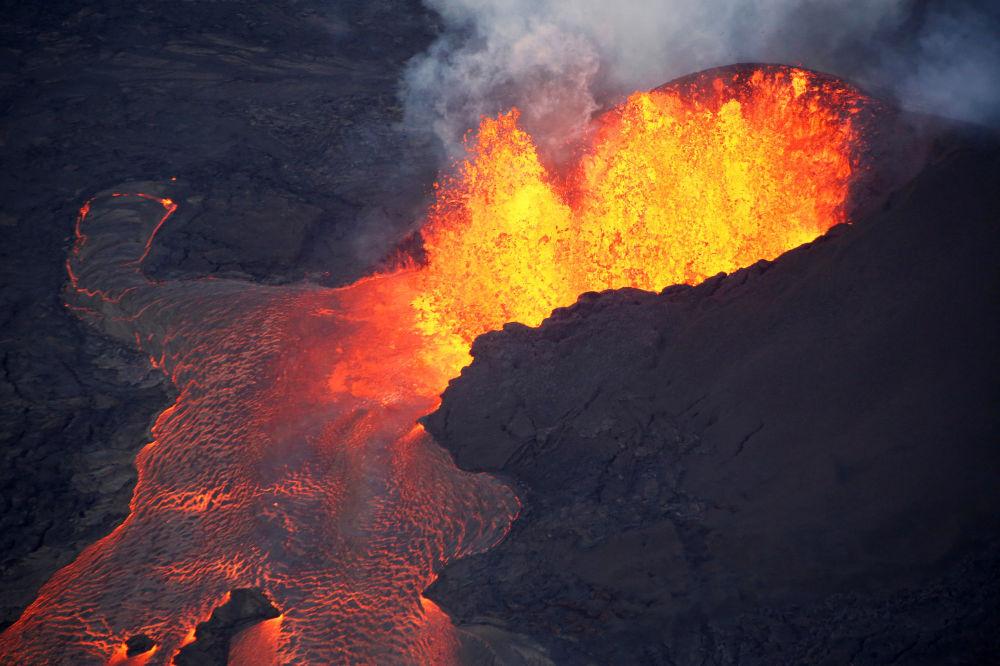 Kilauea é um vulcão localizado no Parque Nacional de Vulcões do Havaí