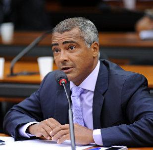 Senador Romário Faria (Podemos-RJ), pré-candidato à presidência da CBF