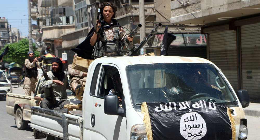 Insurgentes da Frente Nusra durante uma operação