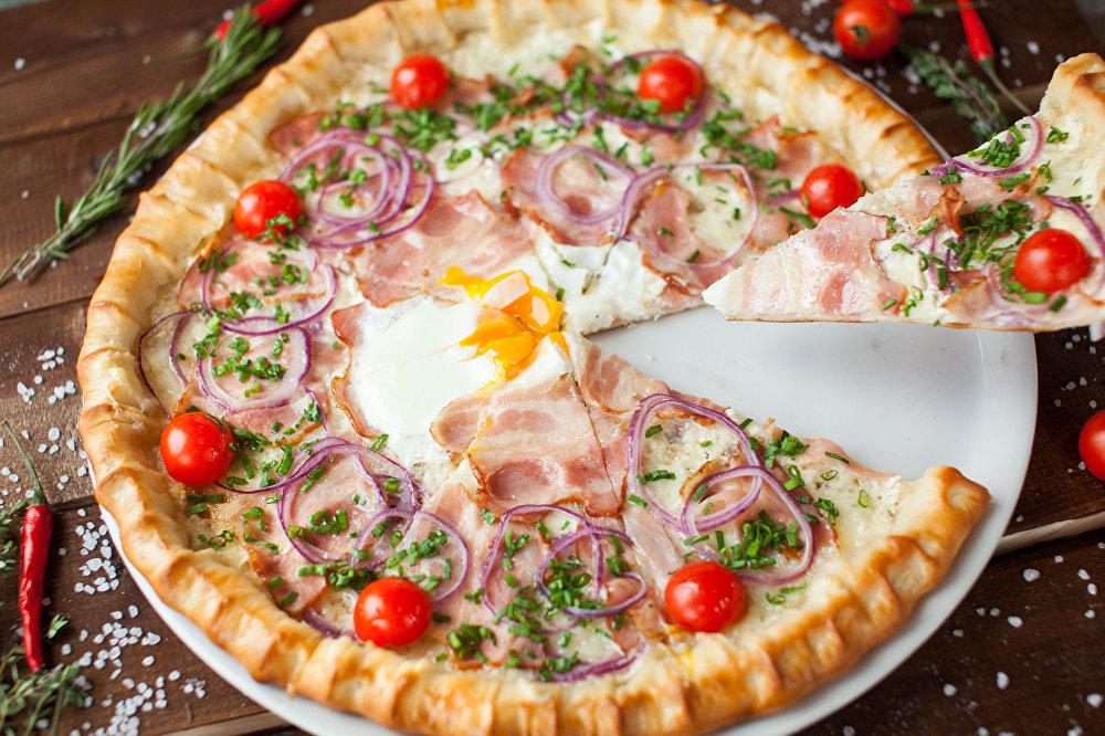 Pizza Coliseu do Restaurante-Pizzaria Peperonchino em Kaliningrado