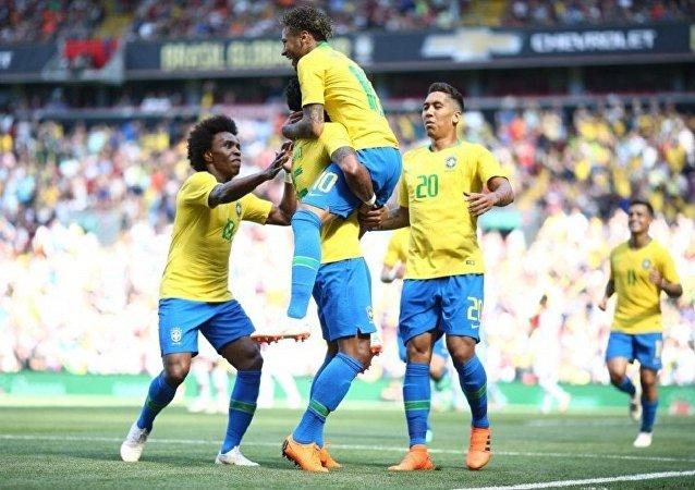 Seleção brasileira no campo