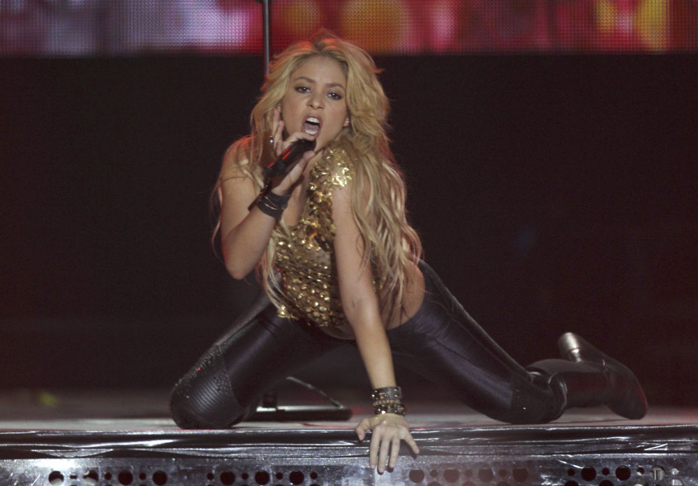 Cantora colombiana Shakira, esposa de Gerard Piqué, zagueiro da Seleção Espanhola e do clube Barcelona