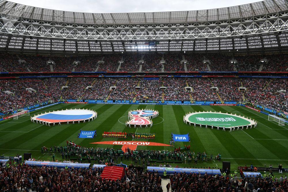 Cerimônia de abertura da Copa do Mundo de 2018 no Estádio Luzhniki