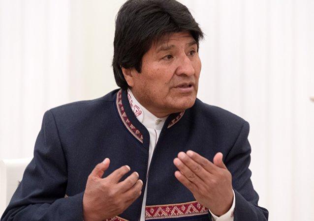 Evo Morales, presidente da Bolívia, em Moscou (arquivo)