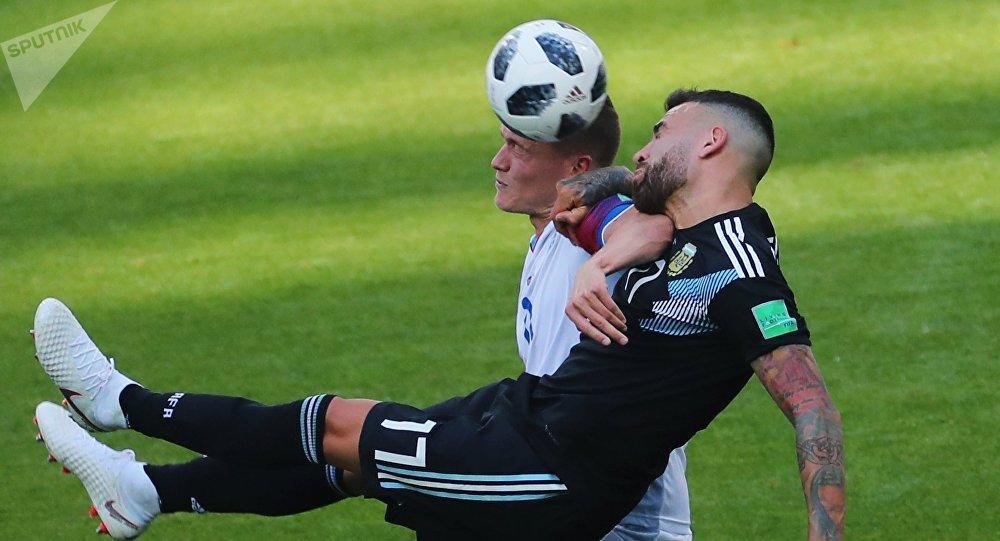 El partido entre Argentina e Islandia