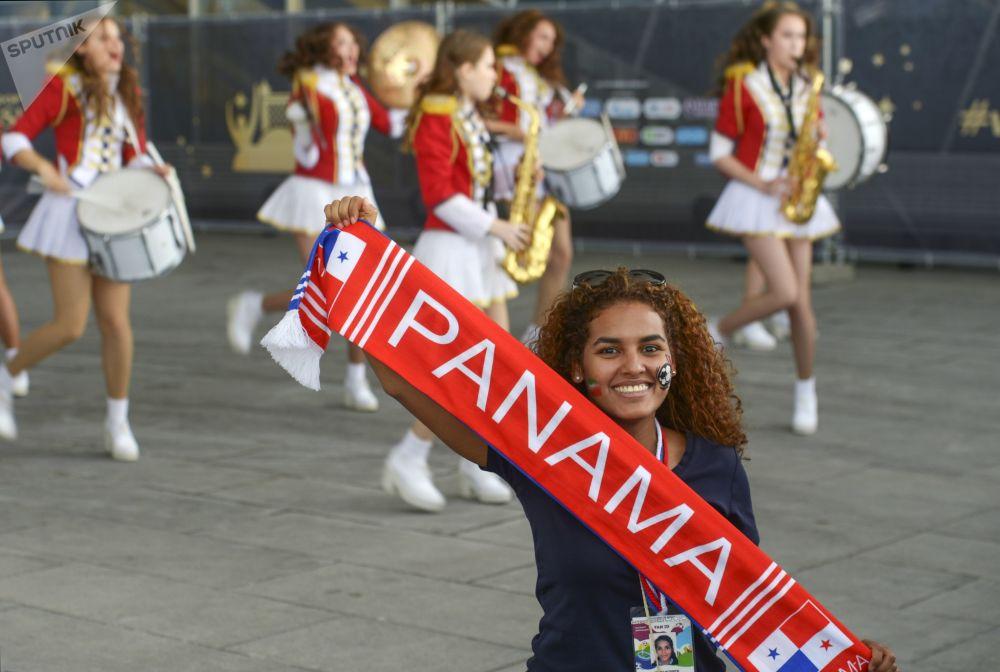 Torcedoradurante o jogo Marrocos-Irã em São Petersburgo.