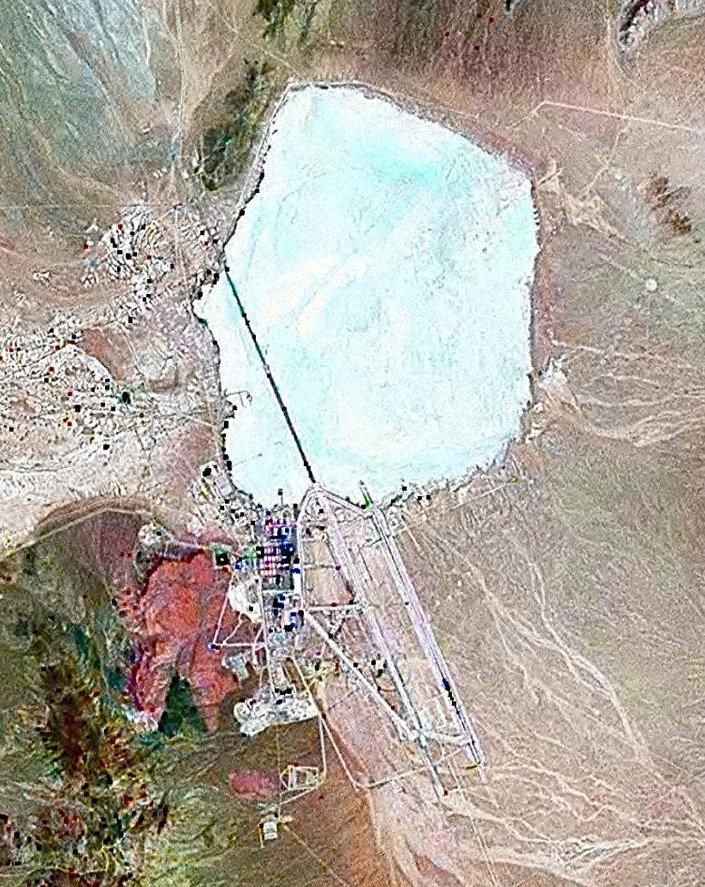 Imagem de satélite da Área 51