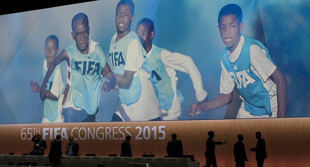 Pausa durante a reunião da FIFA em 29 de maio de 2015.