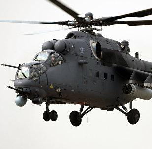 Helicóptero de combate Mi-35M (foto do arquivo)