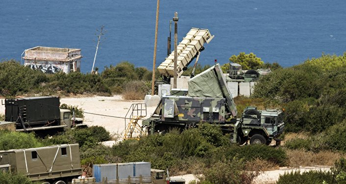 Bateria de mísseis terra-ar Patriot no norte de Israel