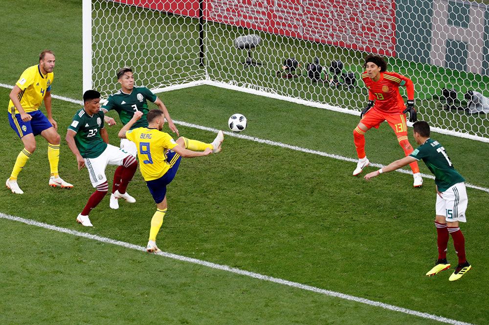 Suécia 3 x 0 México, mesmo com derrota seleção mexicana se classifica para as oitavas de final