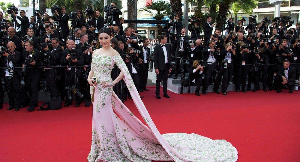 A atriz Fan Bingbing em Cannes, em 2015. Ele é uma das envolvidas na polêmica.