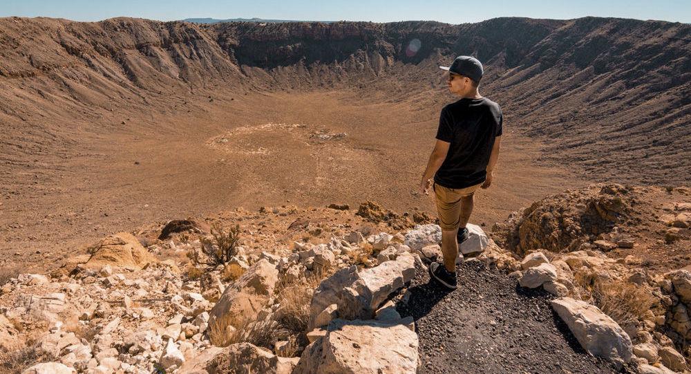 Cratera formada por meteorito no estado do Arizona, EUA (imagem de referencia)