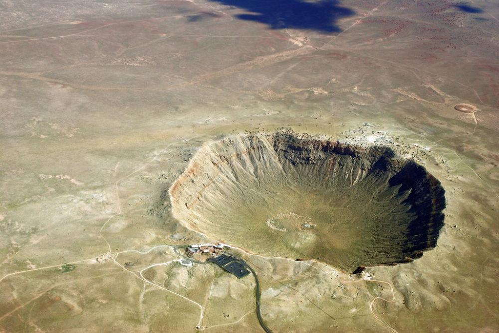 Cratera no estado do Arizona (EUA) surgida em resultado da queda de um meteorito