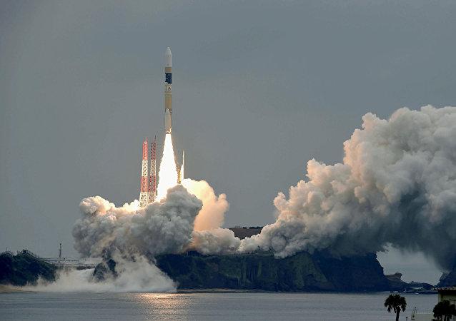 Foguete H-IIA com satélite Michibiki 2 a bordo (imagem referencial)