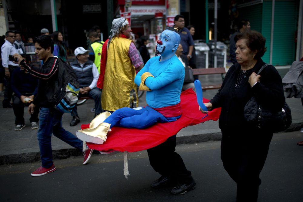 Dia do Palhaço em Lima (Peru) em 25 de maio de 2015.