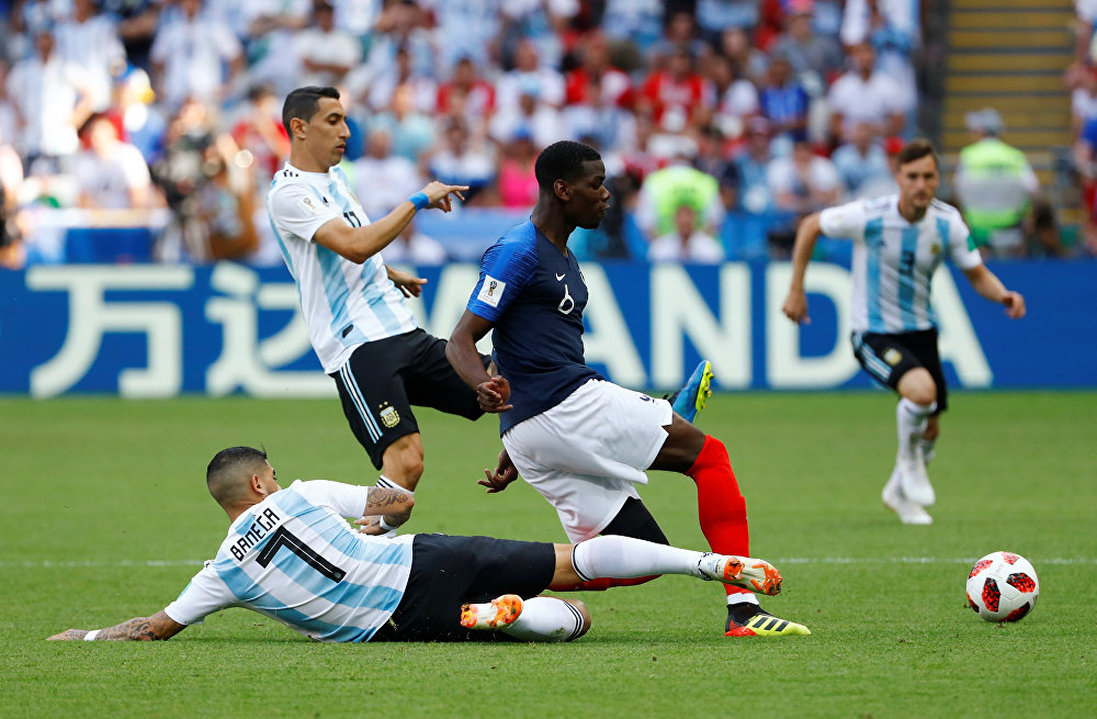 A sólida atuação de Paul Pogba também garantiu o bom desempenho dos Bleus.
