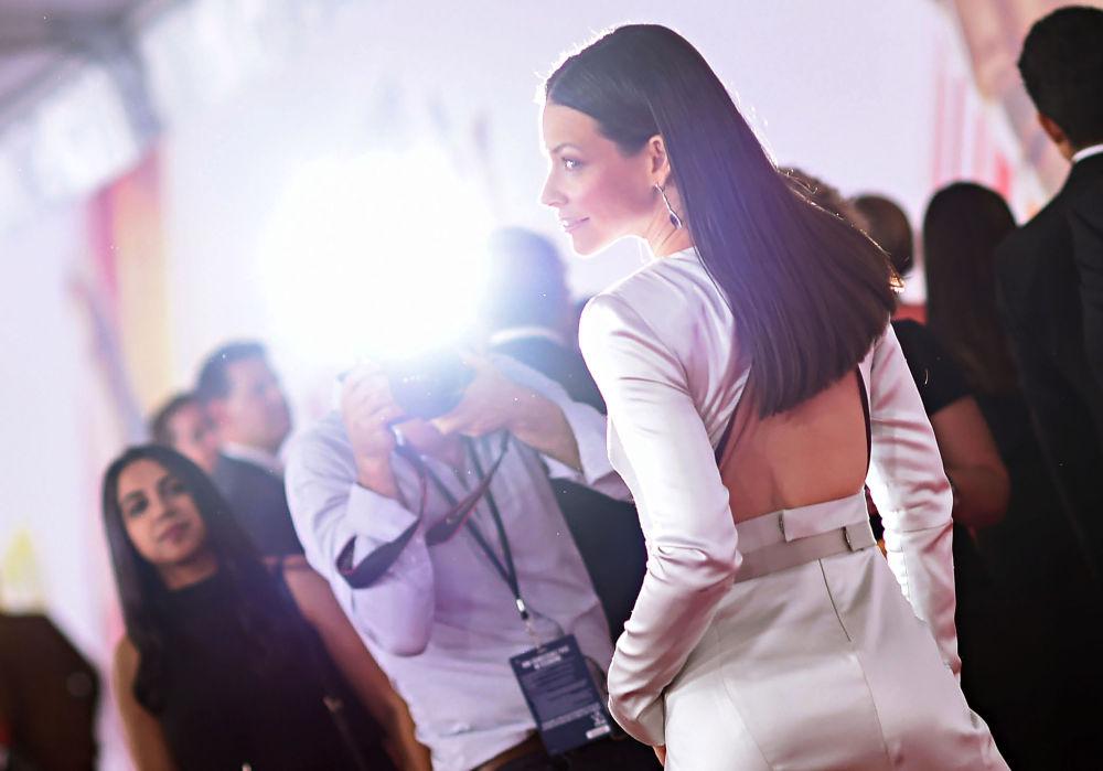 Atriz estadunidense Evangeline Lilly assiste à estreia do filme Homem-Formiga e a Vespa em Hollywood