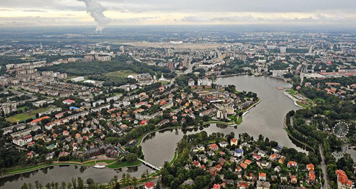 Vista aérea da cidade de Kaliningrado