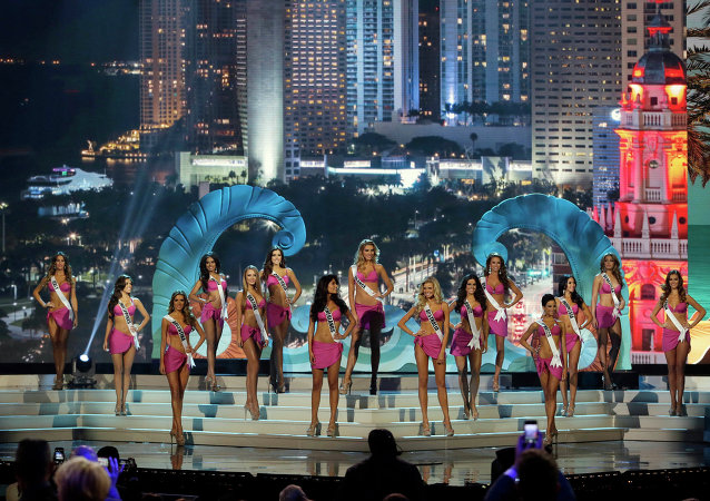 Top 15 finalistas do concurso Miss Universo em Miami, 25 de janeiro de 2015 (foto de arquivo)