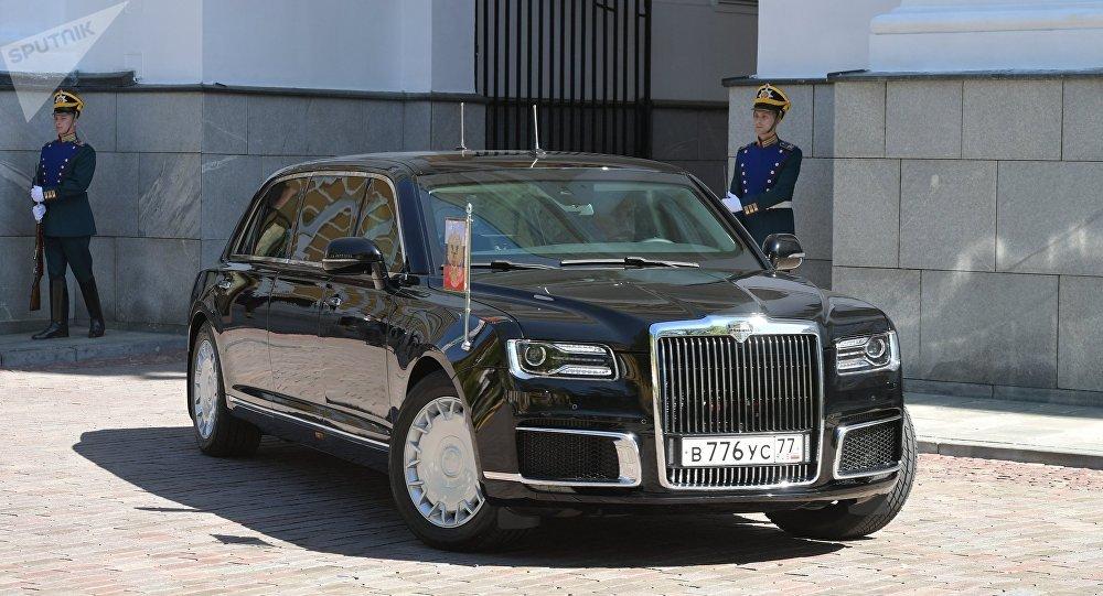 Limousine Aurus do presidente da Rússia, parte do projeto Cortege.