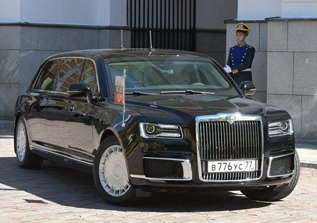 Limousine Aurus do presidente da Rússia, parte do projeto Cortege