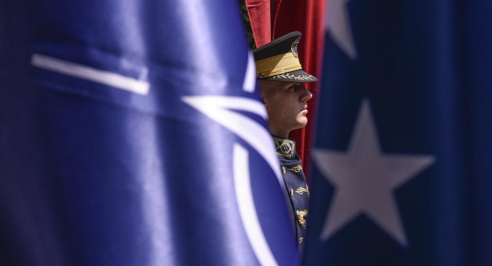 Banderias da OTAN e da UE