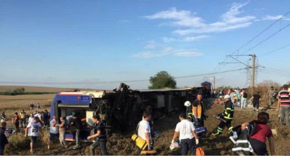 Acidente de trem em Tekirdag, no noroeste da Turquia