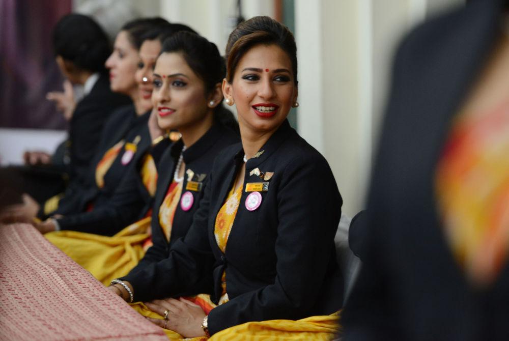 Aeromoças da empresa aérea Air India
