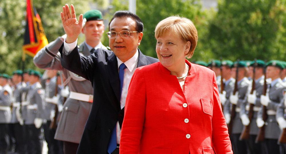 Angela Merkel e Li Keqiang, Berlim, Alemanha