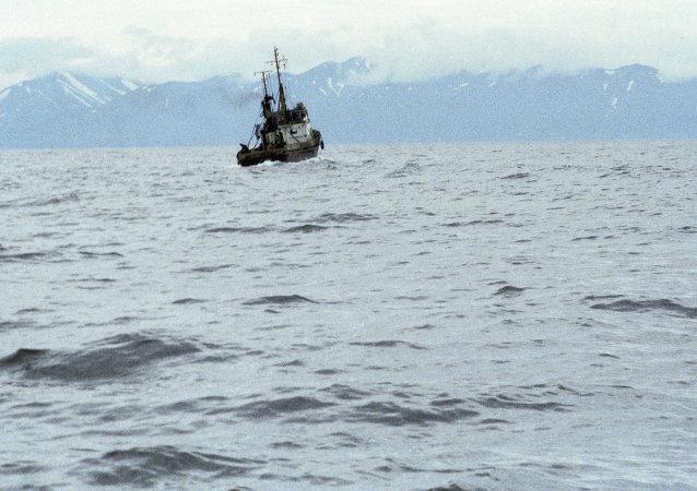 Embarcação na penísula de Kamchatka (Foto de arquivo)